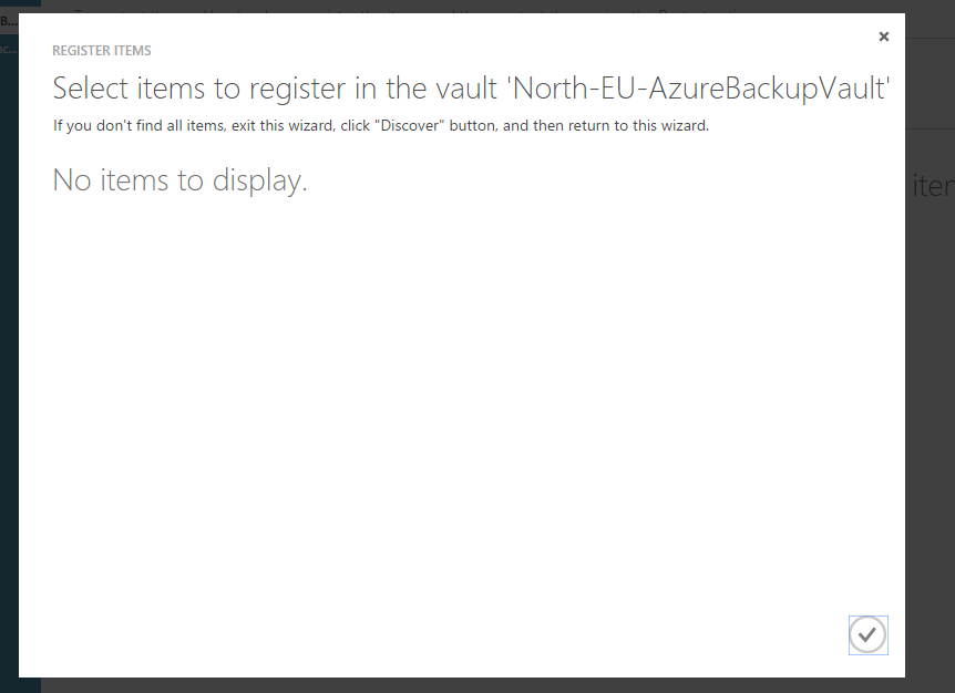 Azure Backup Service Error